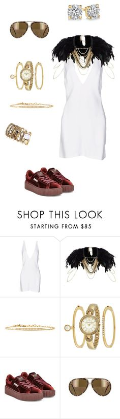 """""""Untitled #477"""" by khloodalshehri ❤ liked on Polyvore featuring Christopher Kane, River Island, Michael Kors, Anne Klein, Puma and Porsche"""
