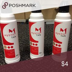Mystic Spray Tan Solution I have 1 sealed Mystic Spray Tan Solutions.  Each is 4fl.oz.  expiration is September 2, 2016.  clear formulation and are manufactured in the USA.  Please feel free to ask any questions and thank you for stopping by. Other