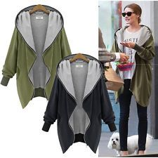 Boyfriend Style Women Oversize Zip UP Jacket Long Coat Hoodie Cardigan Blazer