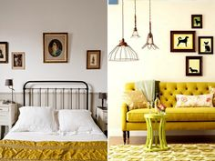 Mustard has the ability to add a real happy and warm pop of color to your decor. It pairs fantastclly with grey, pink, and almost any natural tone. And whether you go bold with an upholstered piece of furniture or use it as an accent color, it'll always get noticed.