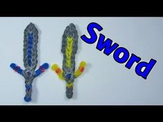 Rainbow Loom SWORD Charm: How To Design / Tutorial (DIY Mommy)