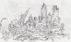 destroyed city drawing - Google Search