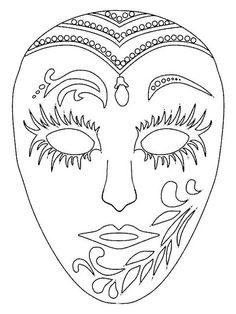 Mardi Gras Mask Template Carnival Masks Rio Fun Crafts