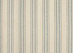 Hadley Seaspray Blue Stripe Cotton Linen Mix Upholstery Fabric