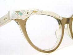 Vintage Glasses 50s Cat Eye Eyeglasses Frame by Vintage50sEyewear