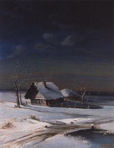 Зимний пейзаж Winter Landscape, 1871 by Aleksey Savrasov. Realism. landscape
