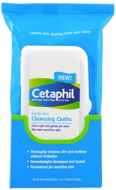 Cetaphil Gentle Skin Cleansing Cloths can be used by even those with sensitive skins!