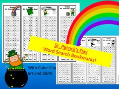 An EASY, fun, printable word search for St. Patrick's Day!