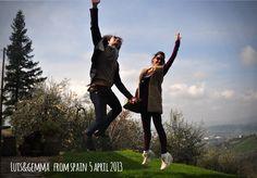 Luis & gemma 2aprile2013 jump for Forestaria Organic Farm, Lucca, Tuscany