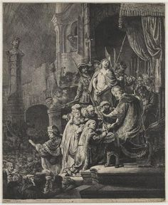 Christ before Pilate - Rembrandt  - Completion Date: 1636