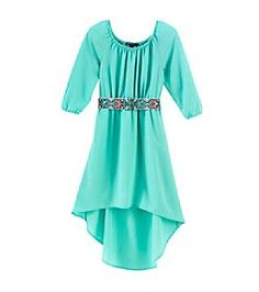 Sequin Hearts® Girls' 7-16 Solid Chiffon Dress With Belt