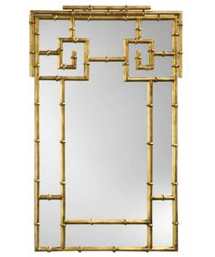High Street Market - Gold Gilded Faux Bamboo Mirror