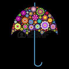 illustration of floral umbrella on black background photo Umbrella Quotes, Floral Umbrellas, Black Backgrounds, Vector Art, Eyeglasses, Clip Art, Illustration, Eyewear, Illustrations