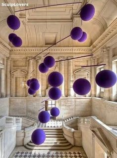 It is very interesting; 3 Dimensional purple dots in air of the room! The solid and vivid purple dots are more standing out in natural colored space.