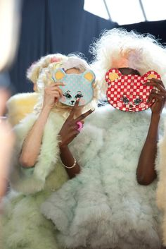 The two little bears - backstage at Meadham Kirchoff <3