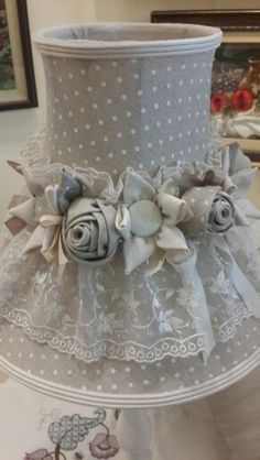 Love the Shade fabric and flowers. Think I would leave off the lace.