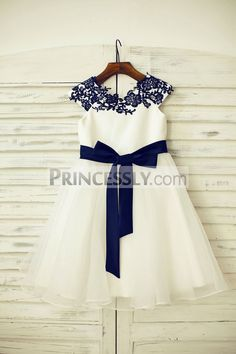childs navy bridesmaid dress - Google Search