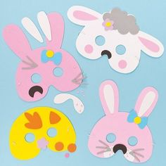 Easter Masks - Bunny Rabbit and Chick Template - Itsy Bitsy Fun