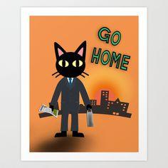 Go Home Art Print by BATKEI - $15.60  cool work !! Sheri