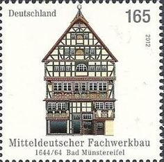 Issued in 2012, Germany - Old half-timbered house in Bad Münstereife (Could someone please give me this stamp? I'm collecting this sort of stamps)