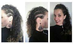 Moican, curly hair