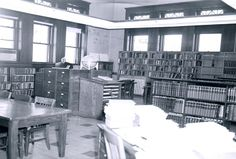 Interior reference area at Carnegie Library