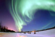 오로라 – 알래스카 <출처: Wikimedia Commons>