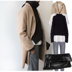 A fashion look from June 2014 featuring Ralph Lauren, white tee and leather-sleeve coats. Browse and shop related looks.