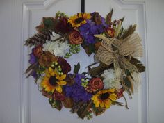 Fall Wreath - Welcome Fall by TheVictorianBouquet on Etsy, $58.00