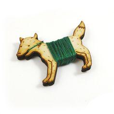 Flossy the Fox Embroidery Floss Bobbin. $12.00, via Etsy.