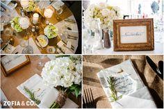 Burlap, gold and green - #Nantucket #wedding at Sankaty Golf Club by Zofia & Co. Photography