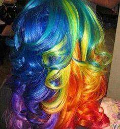 Rainbow curls 2