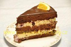 Čokoládový dort s mascarpone Nutella, Tiramisu, Creme, Food And Drink, Birthday Cake, Treats, Ethnic Recipes, Sweet, Hampers