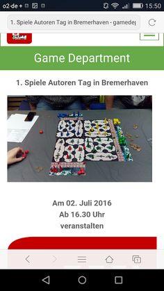 GAME DEPARTMENT: 1. Spiele Autoren Tag in Bremerhaven