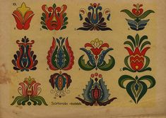 Hungarian Folk Art Matyo Kalocsai Etc Tattoo Design Hungarian Embroidery, Folk Embroidery, Learn Embroidery, Embroidery Patterns, Flower Embroidery, Folklore, Chain Stitch, Cross Stitch, Bordado Popular