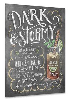Rezept zum Dark & Stormy Cocktail