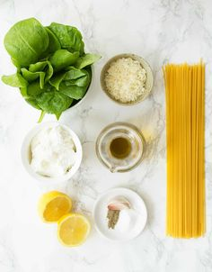 This easy lemon ricotta pasta with spinach makes a delish weeknight meal ready in less than 15 minutes. Simple, fresh ingredients, and minimal effort. Ricotta Pasta, Spinach Pasta, Lemon Pasta, Pasta Recipes, Dinner Recipes, Cooking Recipes, Brunch Recipes, Dinner Ideas, Spaghetti