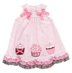 Infant Cupcakes Seersucker Dress.