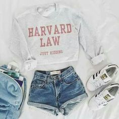Summer Outfits For Teens, Cute Outfits For School, Cute Casual Outfits, Summer Clothes, Easy Outfits, Casual Shorts, School Clothes List, Cute Clothes, Spring Outfits