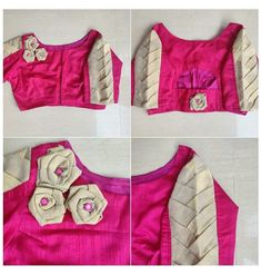 Patch Work Blouse Designs, Blouse Designs High Neck, Kids Blouse Designs, Simple Blouse Designs, Stylish Blouse Design, Designer Blouse Patterns, Fancy Blouse Designs, Designs For Dresses, Designer Dresses
