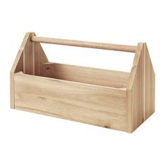 IKEA - SKOGSTA, Box with handle, Perfect for storing and carrying oil, vinegar, spices, napkins or flatware between your kitchen and dining table.