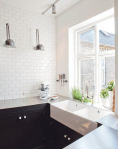 hvide vægfliser køkken - Google-søgning