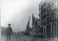 La explosión del 'Cabo Machichaco' | Imagen 4 La honda expansiva destrozó los edificios de la calle Calderón de la Barca