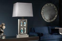 Stolová lampa MAGIC EYE. Svietidlá Reaction. Magic Eyes, Lamp Design, Table Lamp, Lighting, Home Decor, Fabric Lampshade, Industrial By Design, Silver Color, Mirror