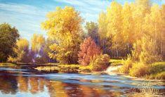 """Картина на холсте """"Осенние краски"""", купить картину маслом в картинной галереи """"Сайт подарков"""""""