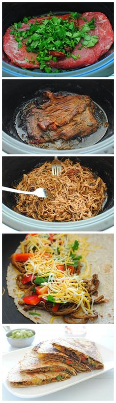 Slow Cooker Chipotle Steak Quesadillas…this lady is so funny!