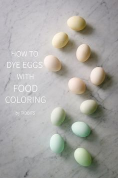 How to dye eggs with