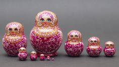 Exclusive Russian Gzhel traditional nesting doll by BestGiftIdeas