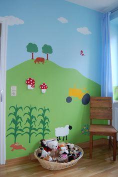 Cute Little Kids Farm Mural Idea · John Deere ...