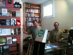 Frank Reiss (on the right) of A Cappella Books in Atlanta, GA